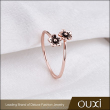 OUXI 2016 Latest deisgn High quality Rose gold plated 925 silver ring settings without stones Y70153