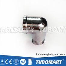 2016 hot sale Tubomart brass fittings NPT brass threaded elbow with high quality