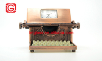 Zinc alloy copper Small Typewriter metal Desk Clock