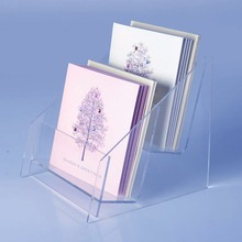 Clear Acrylic Greeting Card Stand, Acrylic Postcard Display Rack