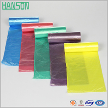 Star sealed bottom plastic black garbage bags on roll for trash