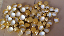24mm gold anodized aluminum screw caps for bottle jar,oxidation colorful metal bottle cap for cosmetic cream