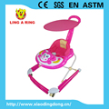 CE approved Baby musical walker with steel base Hot sale cheap walker for baby with light New design baby walker with canopy