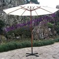 7' wood garen patio umbrella with tilt