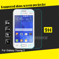 Factory wholesale 2.5D curved tempered glass screen protector for Samsung Galaxy Young 2 tempered glass screen protector