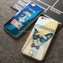 New laser blue light diy soft silicone cell mobile phone case for iphone 6 6s soft tpu case