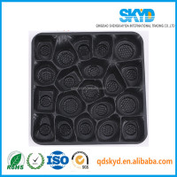 Thermoforming Plastic PS box manufacturers direct supply blister food tray