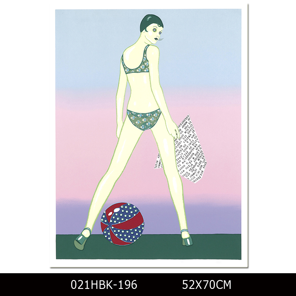 Sexy Design High Quality Print Modern Bikini Lady Painting for Wall Decoration Sexy Lady Picture Printed on Canvas
