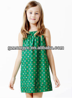 2014Baby Girl's Polka Dot Cotton strap summer dress for wholesales, clothing manufacturer in China