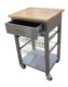 22 inch Stainless steel kitchen trolley service carts with wheels