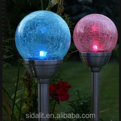 Low voltage 1.2V multi colored solar garden lights