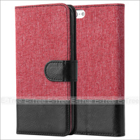 Special Fabric card slot Leather Case for Iphone 6