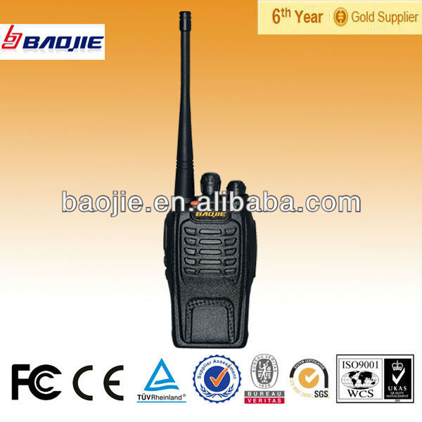 Durable compact structure handheld wireless vhf/uhf fm radio transceiver 16CH without keypad