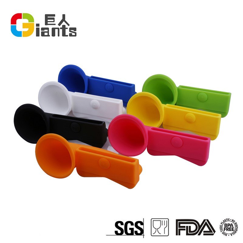 silicone rubber trumpet speaker megaphone for iphone /silicone cellphone speaker /for silicone iphone speakers