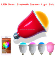 2016 New product colorful bluetooth audio speaker LED bulb lighting with music rhythm