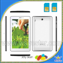 2013 New China Phone Calling Tablet 7 inch 2 SIM 2 Cameras Bluetooth 4000mAh battery Free Quality Leather case