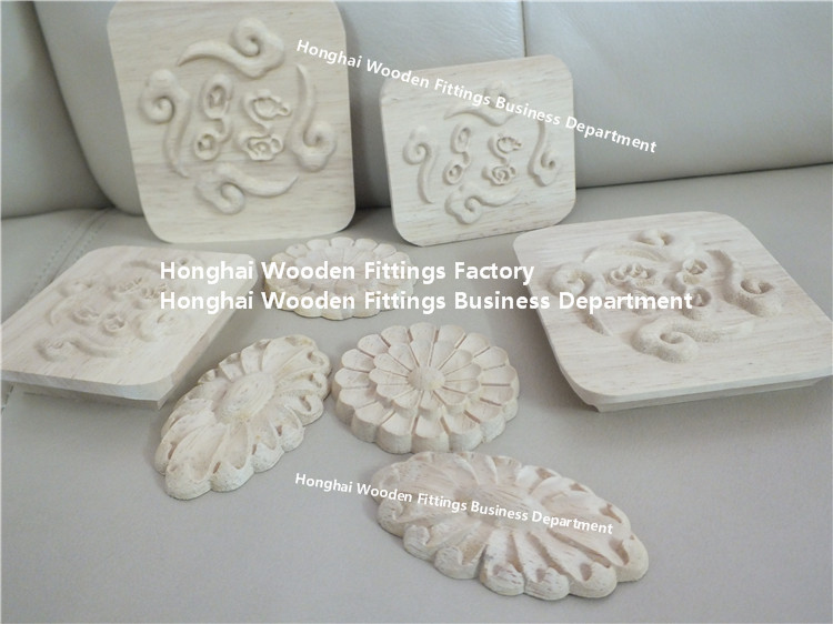 decorative wood carved appliques and onlays