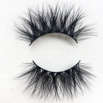 High-quality Hand-made 3D Black Mink eyelashes Made of 100% Safe material full strip Nature Fluffy Long Soft lashes