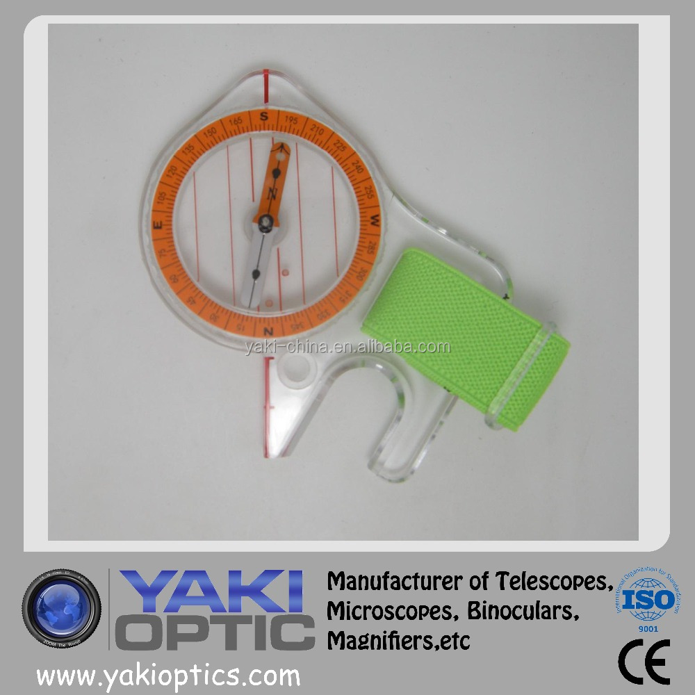 High accuracy pocket thumb compass for orienteering Thumb Compass for the navigator