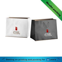 Large gusset art paper shopping bag with handle