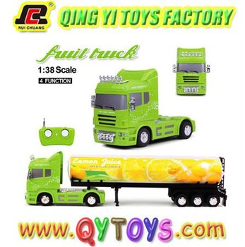 radio controlled toy fruit truck