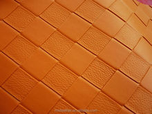 kintted backing leather car seat fabric