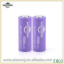 Rechargeable li ion battery 26650 4500mah 50a battery high drain imr e cig battery mechanic mod AISZONG