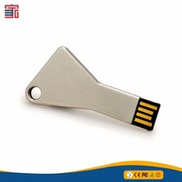 Wholesale OEM usb flash drive key silver color 8GB key chain usb disk
