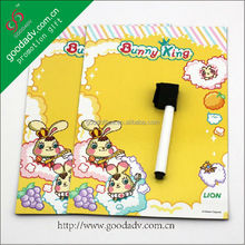 Promotional Custom made cartoon magnetic fridge whiteboard/fridge magnet whiteboard