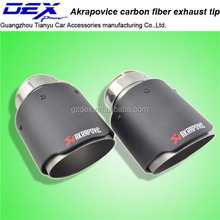 factory price Akrapovic carbon fiber exhaust tip muffler pipe