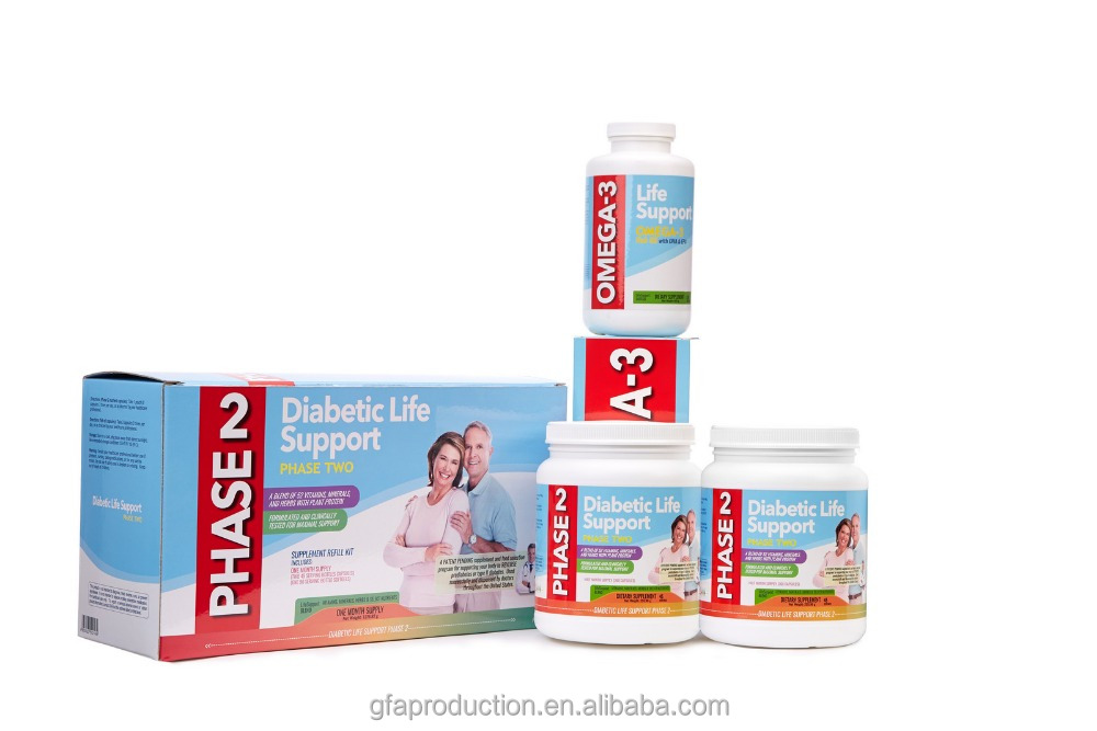 Diabetic Life Support Phase 2 Capsule Refill (2 bottle capsule +1 bottle fish oil softgel capsule)