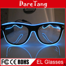 Glow Glasses/EL Sunglasses, Lighting Up Glasses for Pary Show