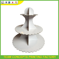 White Cupcake Display Stand UV Finishing for Wedding