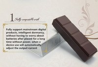 Best Promotion Gift Chocolate Power Bank, Portable Mobile Power, 2600mah Mini Power Bank