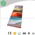 Machine washable full colors printing custom logo acceptable 100% natural fiber rubber wide yoga mat