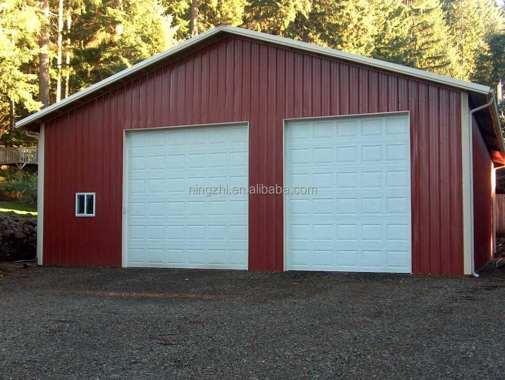 Dos puertas de garaje metal port til garaje estructura de for Garaje portatil