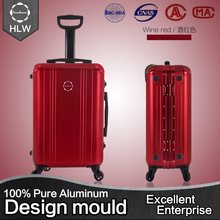 HLW smart wine red vintage decent custom decorative suitcase
