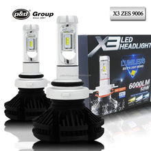 X3 Newest 6000lm DIY 3 Colors Super Bright High Power ZES Chips Mini 9006 HB4 9006 LED Headlight conversion kits bulb