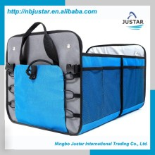 Highest Quality Polyester Material Trunk Organizer Type Premium Auto Trunk Cargo Organizer with Side Mesh Pocket