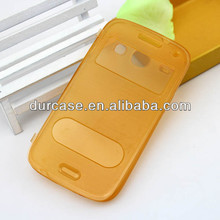 Durable Flip Wire drawing design TPU case for samsung i8260