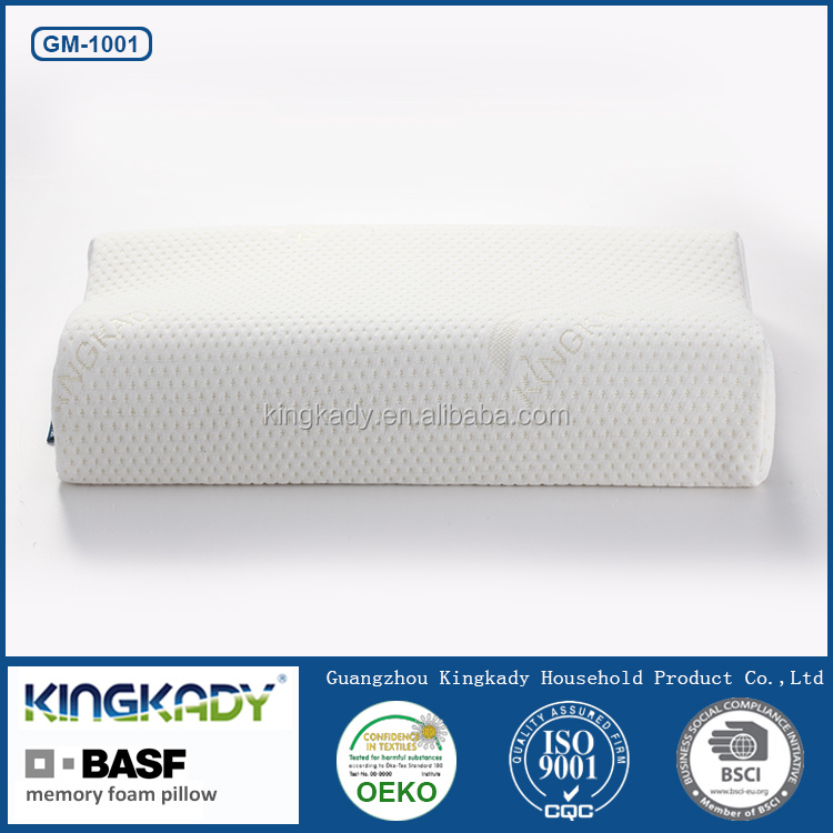 Wave shape non-pressure bamboo memory foam pillows