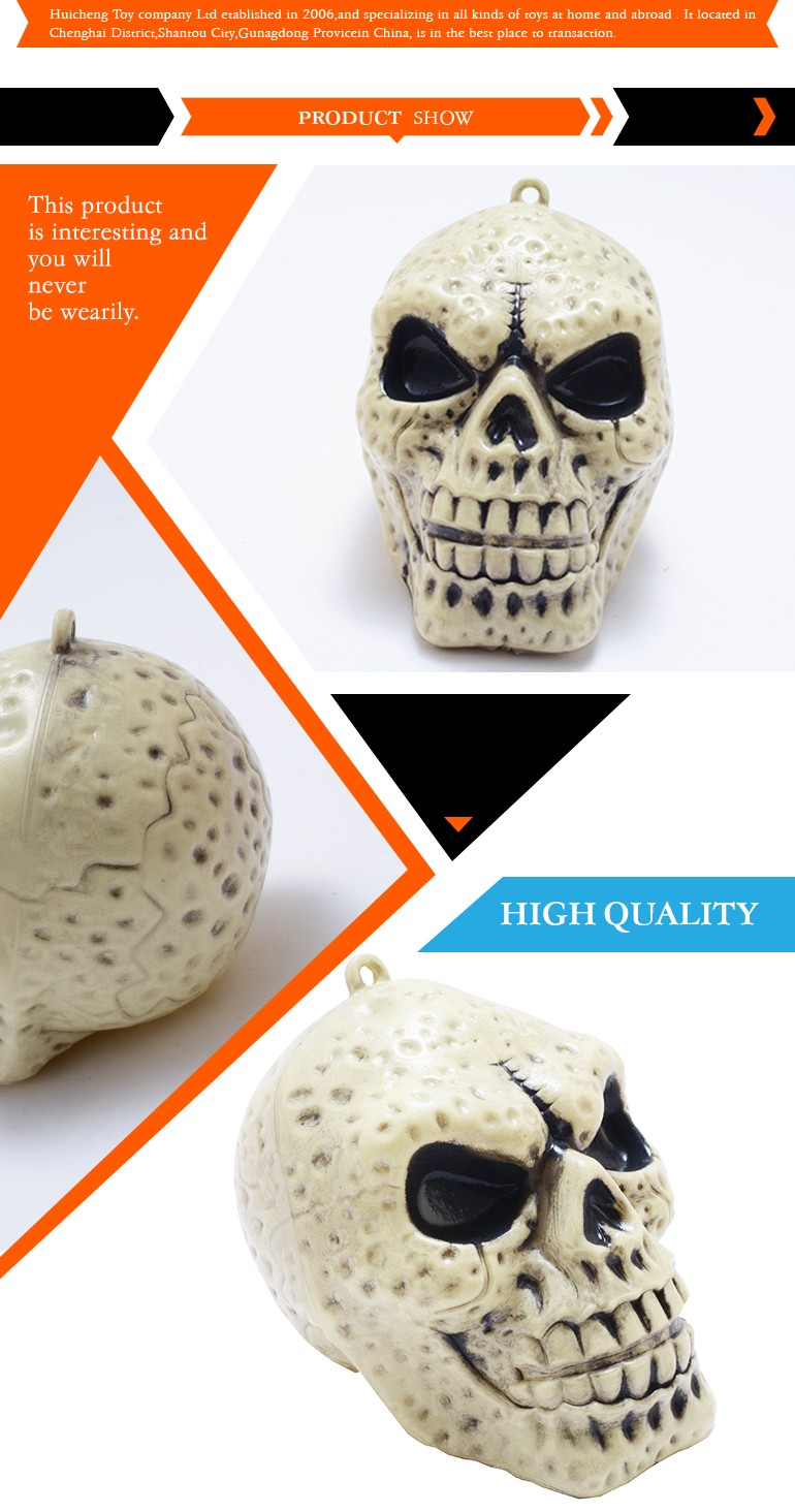 Shantou factory hot sale ghost head wholesale halloween skull for decoration