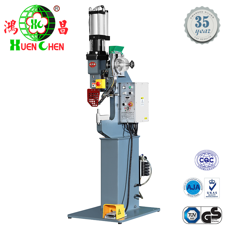 Bench type strong pneumatic hardware riveting machine