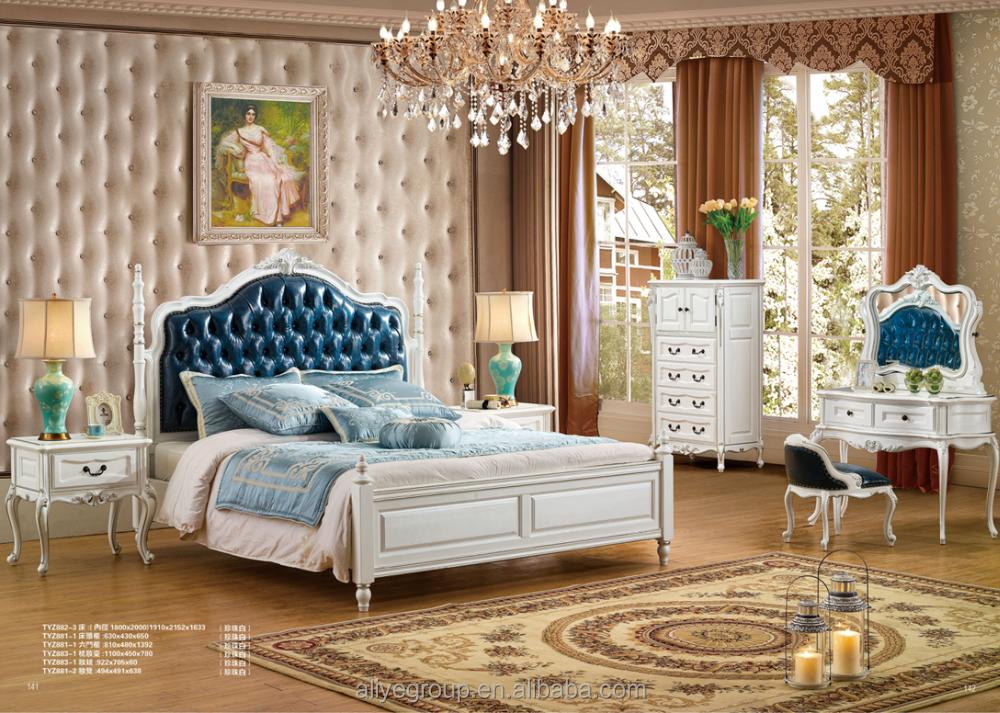 tyzb882 3 white color wood european design bedroom