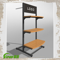 clothing store fixtures ,clothing display shelf , garment display stand