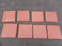 The road use thin red brick pavers