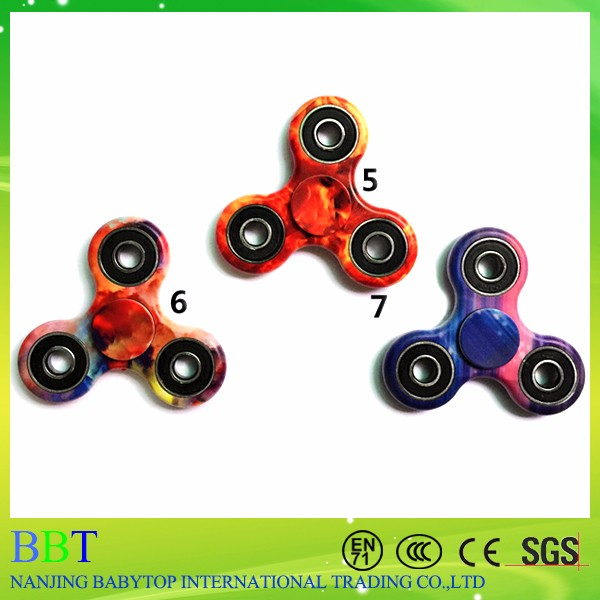 2017 high quality new hand rainbow color starry sky fidget spinner