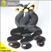 Hair Extension Type and Body Wave Style 100% human body wave natural brazilian hair weave