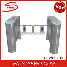 Theme park full automatic brushless motor dual leaf swing barrier gate RFID access control turnstile