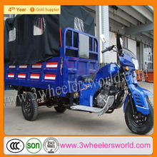 2014 New Design Hot Africa Market Gasoline Three Wheel Covered Motorcycle for Sale